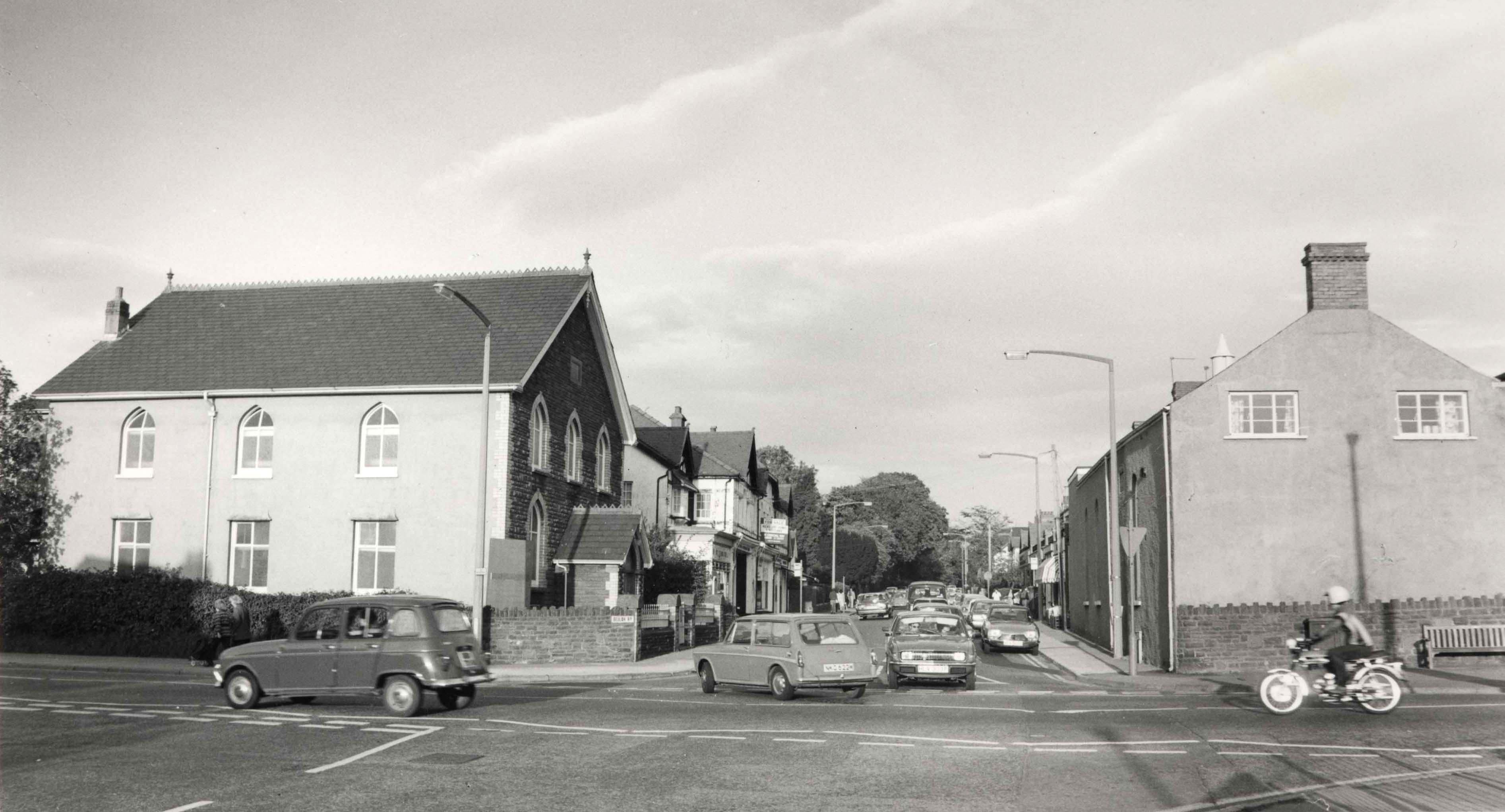 Looking into Beulah Rd from Hoel-y-Deri 1970's