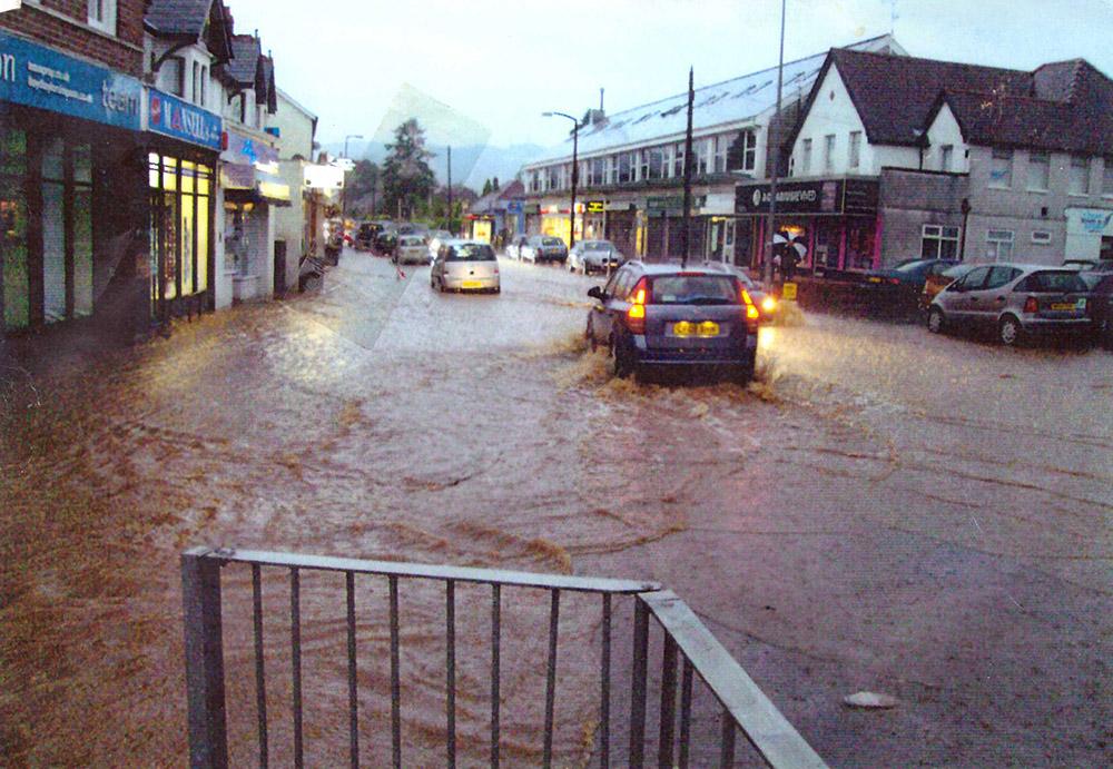 Flood Rhiwbina