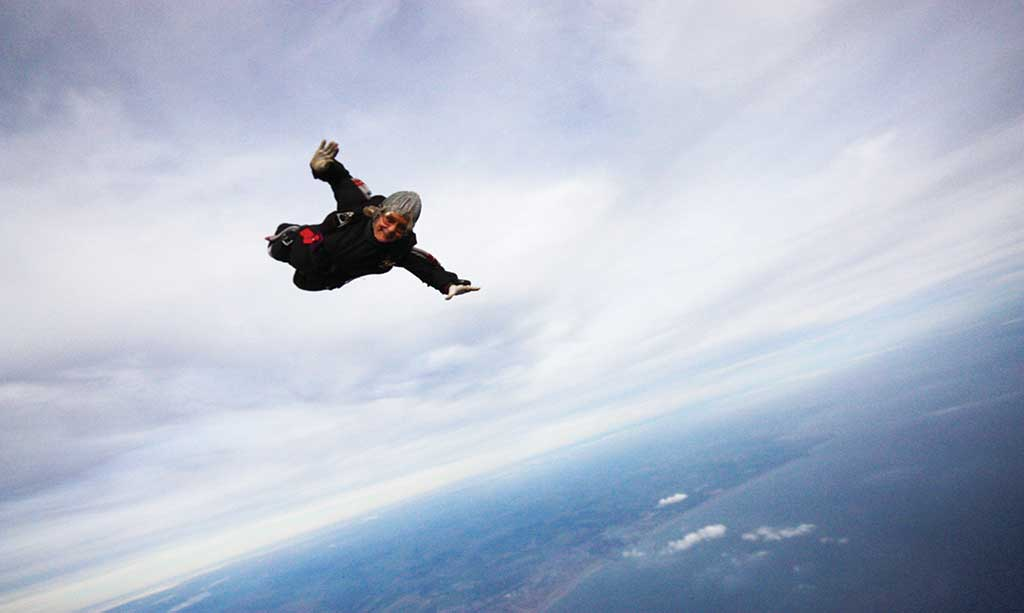 Dilys-Price-skydiving
